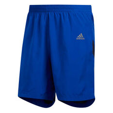 adidas Mens Own the Run 7in Running Shorts Blue S, Blue, rebel_hi-res