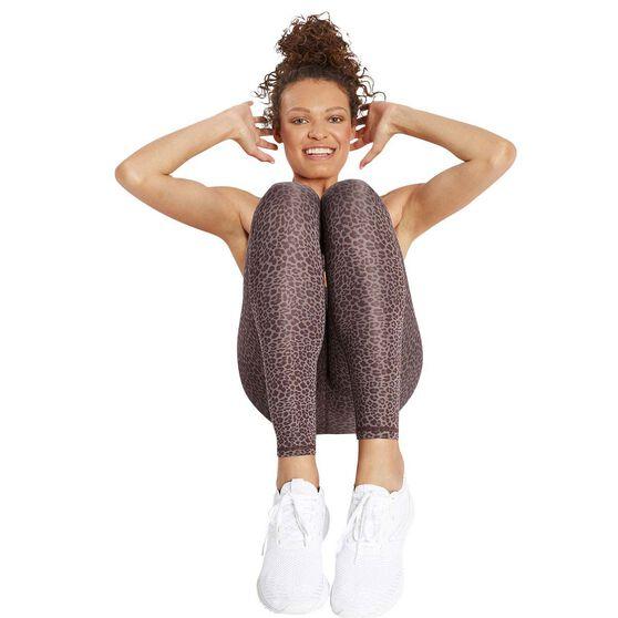 Nimble Womens High Rise Long Leggings  II, Brown, rebel_hi-res