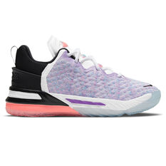Nike LeBron XVIII Kids Basketball Shoes Purple US 1, Purple, rebel_hi-res