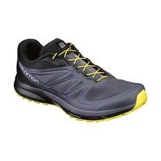 Salomon Sense Pro 2 Mens Trail Running Shoes Grey / Yellow US 8, Grey / Yellow, rebel_hi-res
