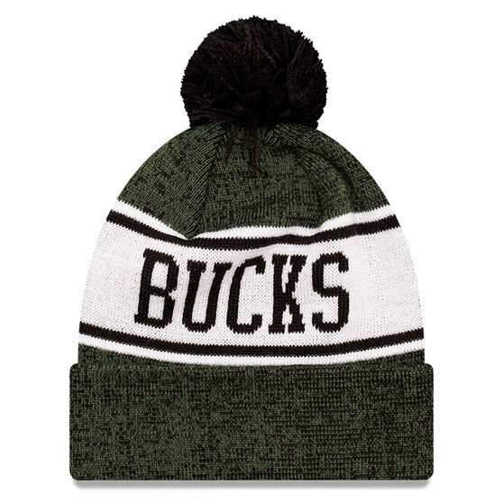Milwaukee Bucks New Era Pom Knit Beanie, , rebel_hi-res