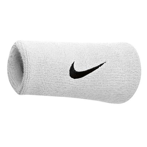 Nike Swoosh Double Wide Wristband White/Black, , rebel_hi-res