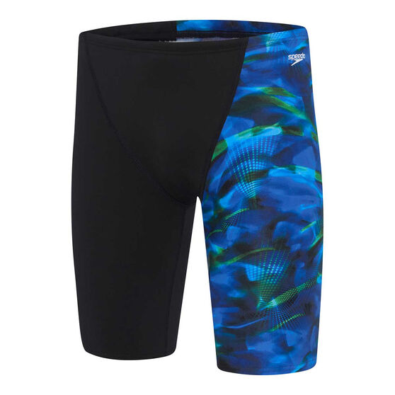 Speedo Mens Orb Jammer, Black / Print, rebel_hi-res