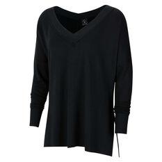 Nike Womens Yoga Fleece Cover Up Black XS, Black, rebel_hi-res