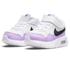 Nike Air Max SC Toddlers Shoes, White/Purple, rebel_hi-res
