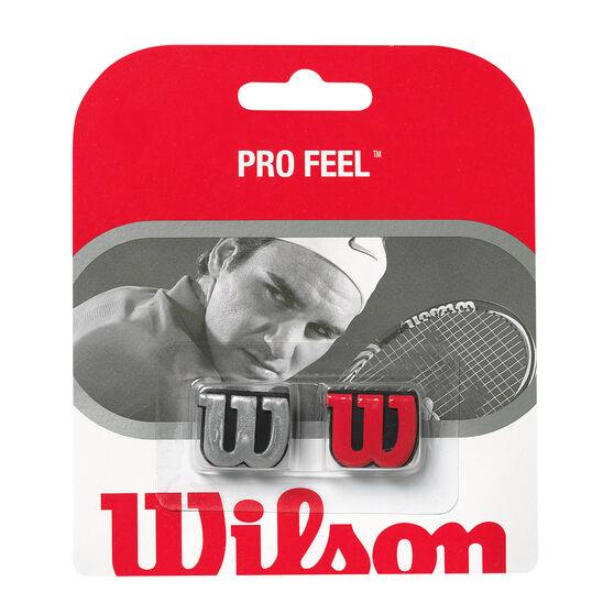 Wilson Pro Feel Tennis Dampeners Silver / Red, , rebel_hi-res