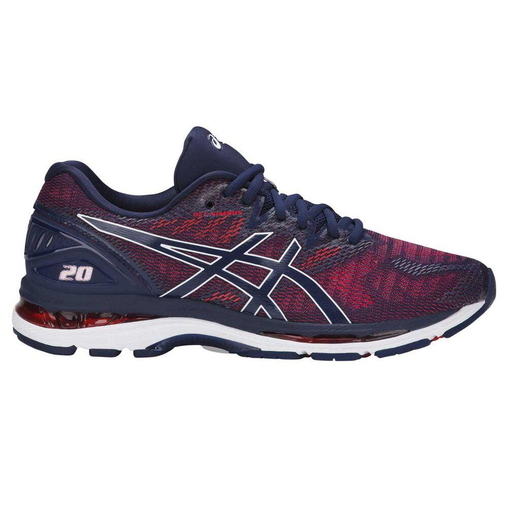 dff2fe8ab94e Asics GEL Nimbus 20 Mens Running Shoes Navy   Red US 9