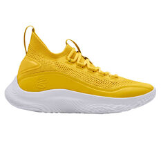 Under Armour Curry 8 Mens Basketball Shoes Yellow US 10.5, Yellow, rebel_hi-res