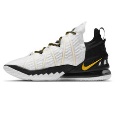 Nike LeBron XVIII Home Basketball Shoes White US 8.5, White, rebel_hi-res