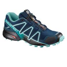 Salomon Speedcross 4 Womens Trail Running Shoes Navy US 6, Navy, rebel_hi-res