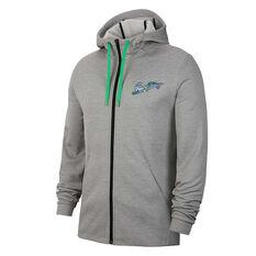 Nike Mens Therma Full Zip Training Hoodie Grey M, Grey, rebel_hi-res