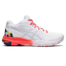 Asics GEL Netburner Ballistic FF MT 2 Celebration of Sport Womens Netball Shoes White/Red US 6, White/Red, rebel_hi-res