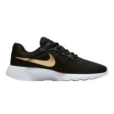 Nike Tanjun Kids Casual Shoes Black / Gold US 4, Black / Gold, rebel_hi-res
