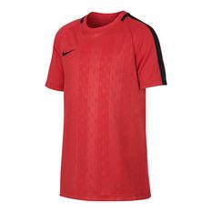 Nike Boys Dri Fit Academy Football Tee Crimson XS, Crimson, rebel_hi-res