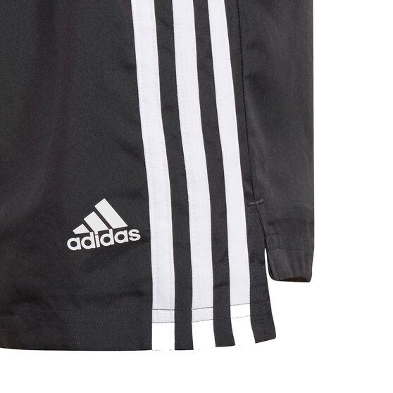 adidas Girls Designed To Move 3-Stripes Shorts, Black, rebel_hi-res