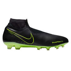 Nike Phantom Vision Elite Dynamic Fit Football Boots Black / Yellow US Mens 7 / Womens 8.5, Black / Yellow, rebel_hi-res