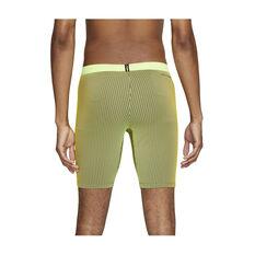 Nike Mens AeroSwift 1/2 Length Running Tights Yellow S, Yellow, rebel_hi-res