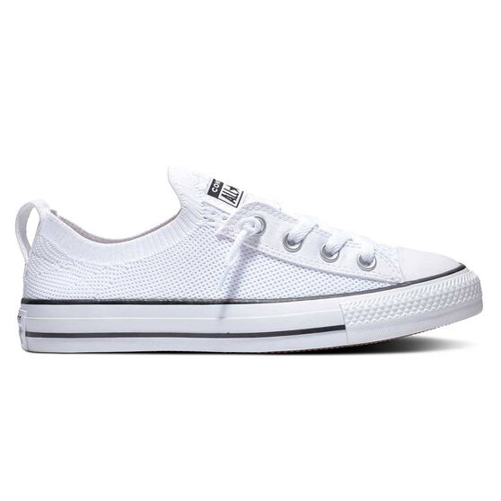 Converse Chuck Taylor All Star Shoreline Knit Low Top Womens Casual Shoes, White / Black, rebel_hi-res
