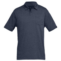 42a9e048b2 Under Armour Mens Charged Cotton Scramble Polo Shirt Navy S, Navy,  rebel_hi-res