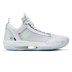 Nike Air Jordan XXXIV Low Mens Basketball Shoes White/Silver US 7, White/Silver, rebel_hi-res