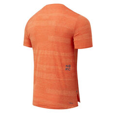 New Balance Mens Q Speed Fuel Jacquard Running Tee Orange S, Orange, rebel_hi-res