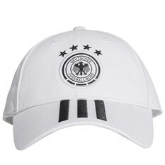 Germany Football 2018 3 Stripes Cap White / Black OSFA, , rebel_hi-res