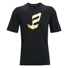 Under Armour Mens Embiid Gold Mine Tee Black S, Black, rebel_hi-res