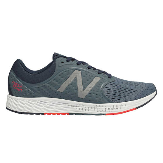 New Balance Zante Mens Running Shoes, Grey / White, rebel_hi-res