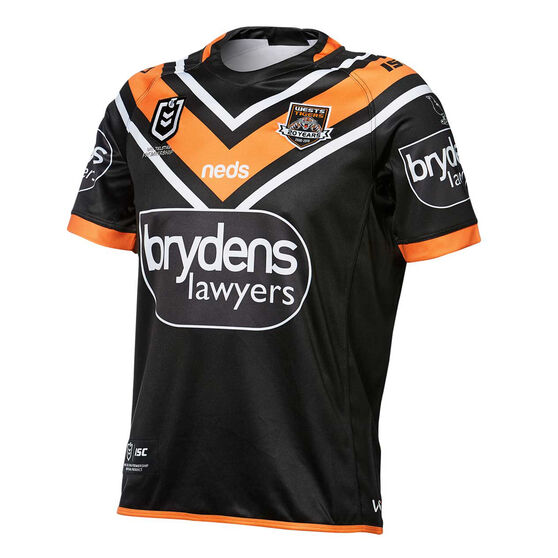 Wests Tigers 2019 Mens Home Jersey, , rebel_hi-res