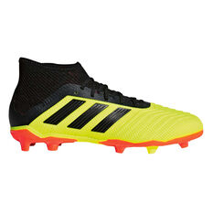 adidas Predator 18.1 Junior Football Boots Lime / Black US 12, Lime / Black, rebel_hi-res
