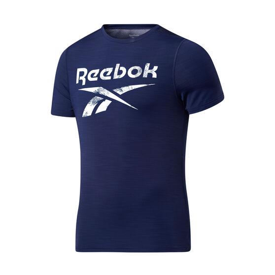 Reebok Mens Workout Ready ACTIVCHILL Graphic Tee, Navy, rebel_hi-res