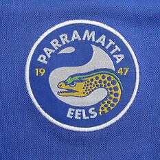 Parramatta Eels 2020 Mens Media Polo, Blue, rebel_hi-res