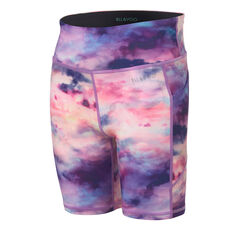 Ell and Voo Girls 7in Bike shorts Multi 6, Multi, rebel_hi-res