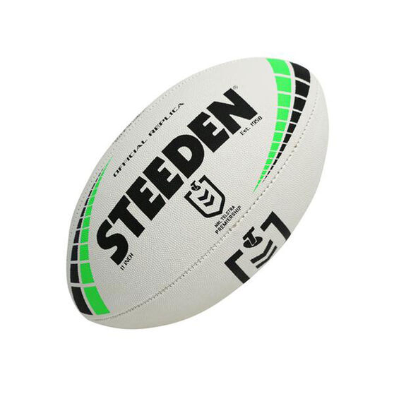 Steeden Official NRL 2021 Premiership Replica Rugby League Ball 11in, , rebel_hi-res