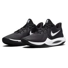 Nike Precision 5 Basketball Shoes, Black/White, rebel_hi-res