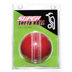 Kookaburra Kooka Softa Cricket Ball Red Senior, Red, rebel_hi-res