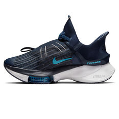 Nike Air Zoom Tempo Next% FlyEase Mens Running Shoes Navy/Blue US 7, Navy/Blue, rebel_hi-res