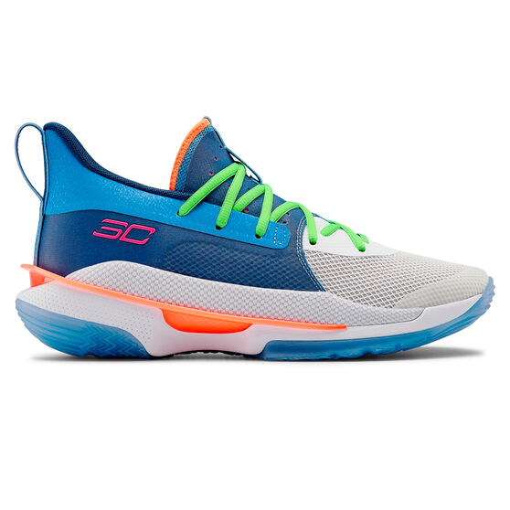 Under Armour Curry 7 Mens Basketball Shoes Blue US 11, Blue, rebel_hi-res