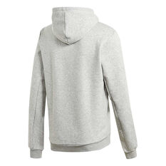 adidas Mens Must Haves Badge of Sport Fleece Hoodie, Grey, rebel_hi-res