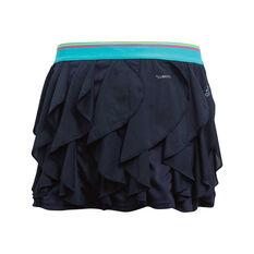 adidas Girls Frilly Tennis Skirt Navy / Blue 8, Navy / Blue, rebel_hi-res