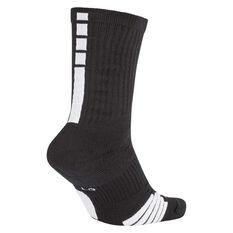 Nike Elite Crew Basketball Socks Black S, Black, rebel_hi-res