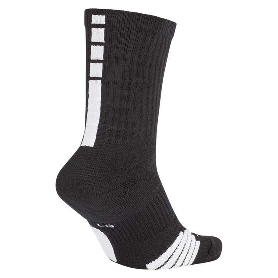 Nike Elite Crew Basketball Socks, Black, rebel_hi-res