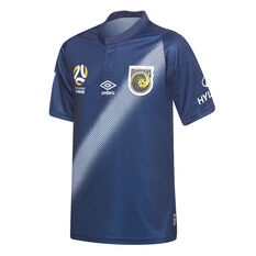 Central Coast Mariners 2018 / 19 Kids Away Jersey Navy / Blue 8, Navy / Blue, rebel_hi-res