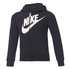 Nike Girls VF Futura FZ Hoodie Black 4, Black, rebel_hi-res