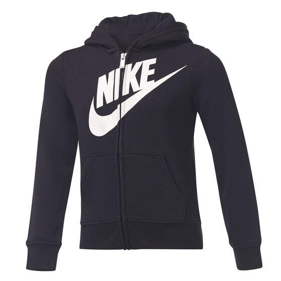 Nike Girls VF Futura FZ Hoodie, Black, rebel_hi-res