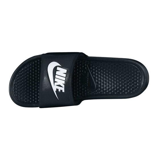 Nike Benassi Mens Slides, Black / White, rebel_hi-res