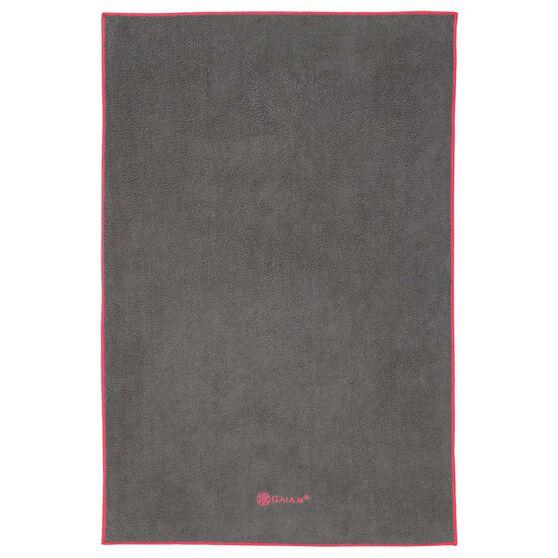 Gaiam Thirsty Yoga Hand Towel Grey / Fuchsia, , rebel_hi-res