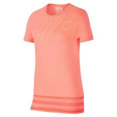 Nike Girls Dry Training Tee Pink XS, Pink, rebel_hi-res