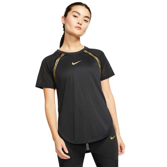 Nike Womens Glam Dunk Running Tee, Black, rebel_hi-res