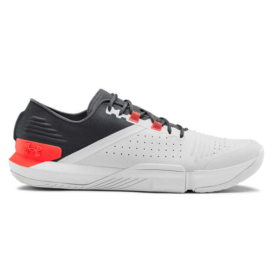 Under Armour Tribase Reign Mens Training Shoes, Grey / Red, rebel_hi-res